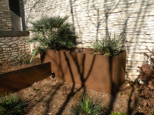 Large Steel Planter