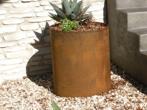 Large Steel Round Planter